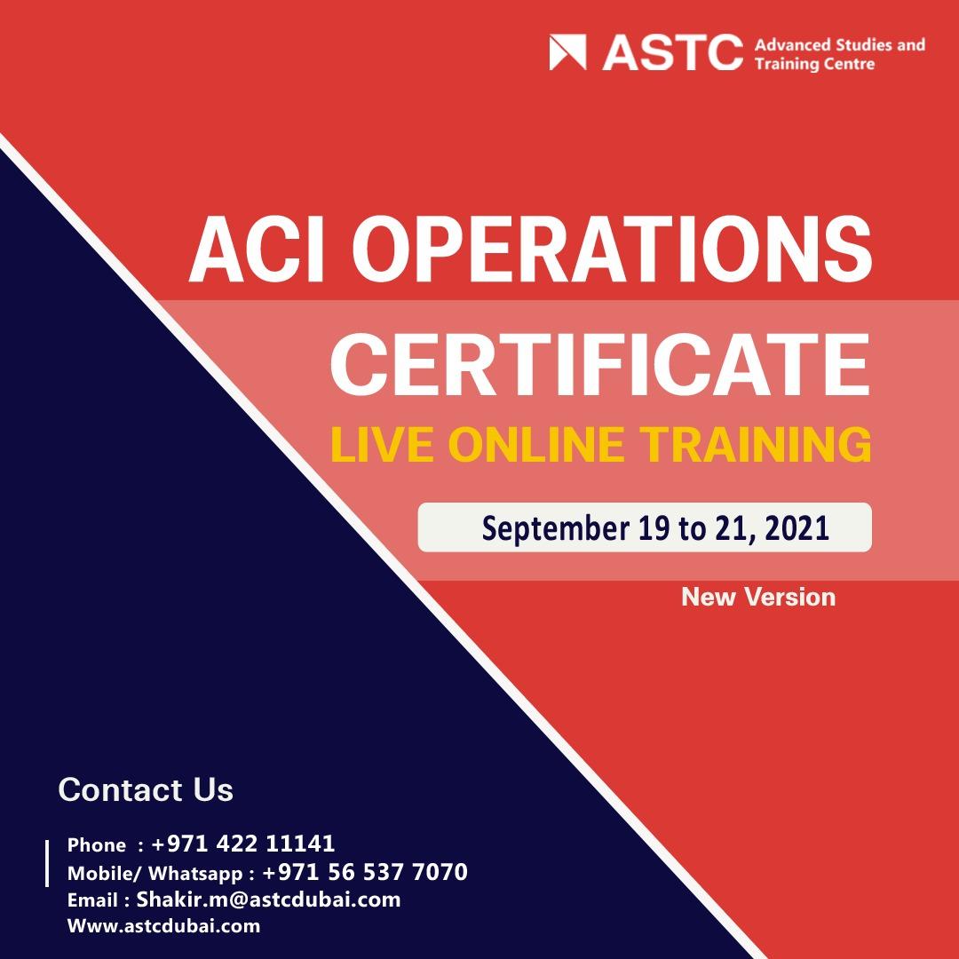 ACI Operations Certificate